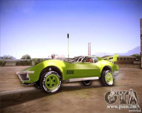 Chevrolet Corvette drag pour GTA San Andreas laissé vue