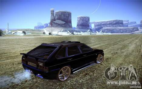 VAZ 2109 Carbon für GTA San Andreas zurück linke Ansicht