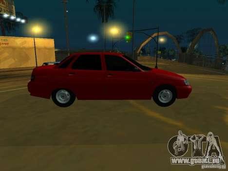 VAZ-2110 für GTA San Andreas zurück linke Ansicht