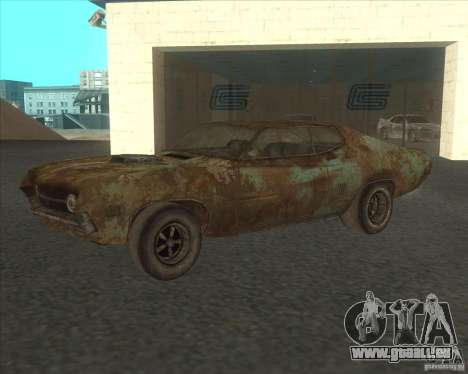Ford Torino extreme rust 1970 pour GTA San Andreas vue intérieure
