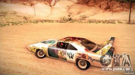 Plymouth Roadrunner Superbird Custom pour GTA San Andreas vue intérieure