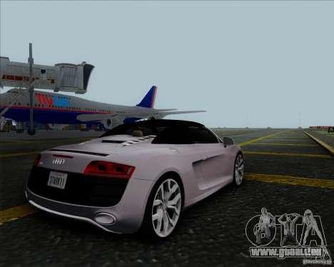 Audi R8 Spyder für GTA San Andreas Rückansicht