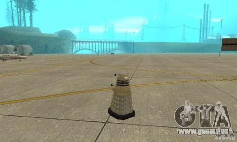 Dalek Doctor Who pour GTA San Andreas sur la vue arrière gauche