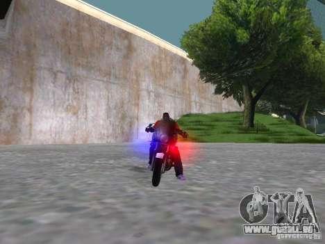 Harley Davidson Dyna Defender pour GTA San Andreas vue intérieure