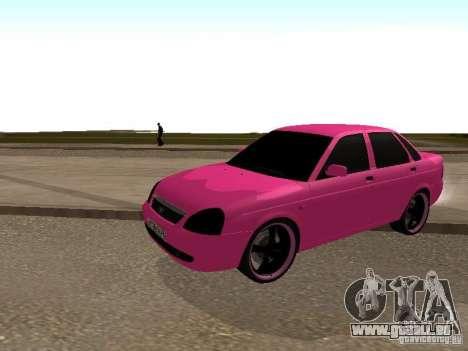 Lada Priora Emo pour GTA San Andreas laissé vue