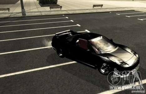 Acura NSX Tuned pour GTA San Andreas vue de dessus