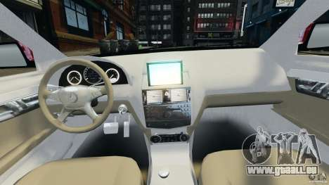 Mercedes-Benz C350 Avantgarde v2.0 für GTA 4 Rückansicht