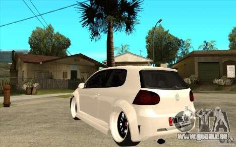 VW Golf 5 GTI Tuning pour GTA San Andreas sur la vue arrière gauche