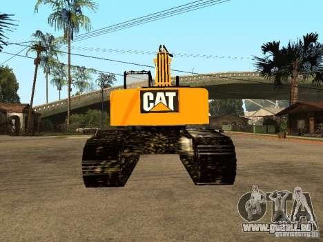 Bagger CAT für GTA San Andreas zurück linke Ansicht