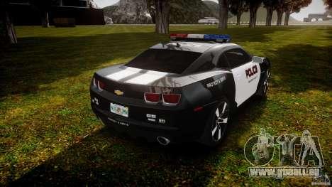 Chevrolet Camaro Police (Beta) pour GTA 4 est un côté