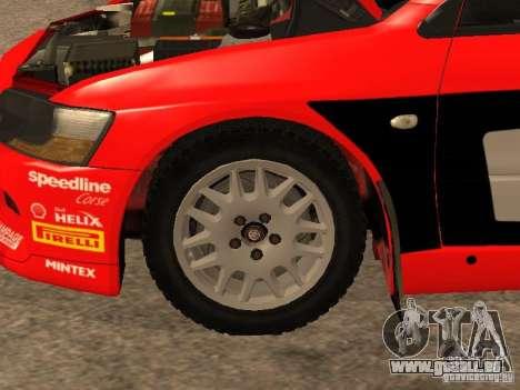 Mitsubishi Lancer Evo IX DiRT2 pour GTA San Andreas salon
