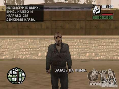 Jason Voorhees für GTA San Andreas