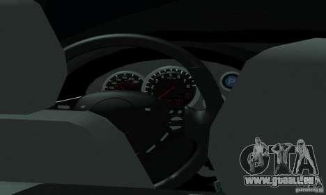 Lada Priora 2012 pour GTA San Andreas vue de dessus