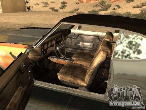 Chevrolet Chevelle Rustelle pour GTA San Andreas sur la vue arrière gauche
