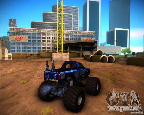 Monster Truck Blue Thunder pour GTA San Andreas vue de droite