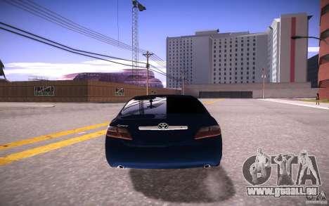 Toyota Camry Light Tunning pour GTA San Andreas sur la vue arrière gauche