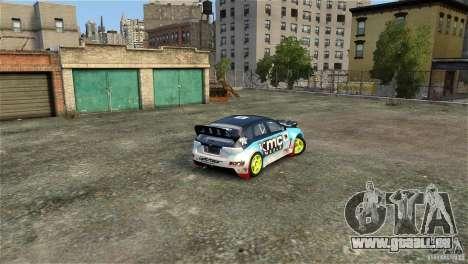 Subaru Impreza WRX STI Rallycross KMC Wheels pour GTA 4 est un côté