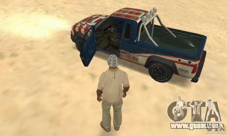 Nevada v1.0 FlatOut 2 für GTA San Andreas Rückansicht