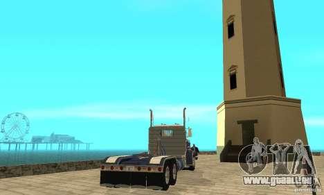 Peterbilt 359 1978 für GTA San Andreas zurück linke Ansicht