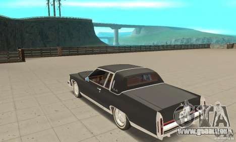 Cadillac Coupe DeVille 1985 für GTA San Andreas zurück linke Ansicht