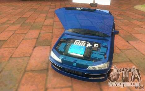 Peugeot 406 1.9 HDi pour GTA San Andreas vue intérieure