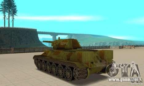 Panzer T-34/76 für GTA San Andreas zurück linke Ansicht