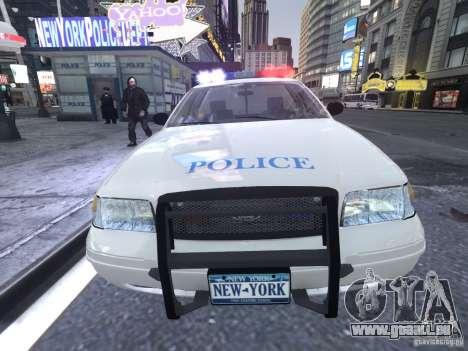 Ford Crown Victoria Homeland Security pour GTA 4 est une vue de l'intérieur