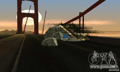 Zerstörte Brücke in San Fierro für GTA San Andreas zweiten Screenshot