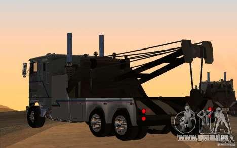 Kenworth K100 Towtruck pour GTA San Andreas laissé vue