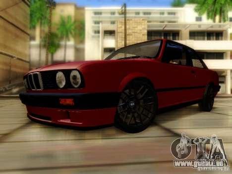 BMW E30 für GTA San Andreas zurück linke Ansicht