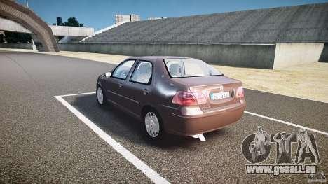 Fiat Albea Sole (Bug Fix) pour GTA 4 Vue arrière de la gauche