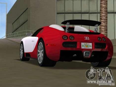 Bugatti Veyron EB 16.4 für GTA Vice City zurück linke Ansicht