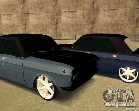 GAZ 24 für GTA San Andreas Rückansicht