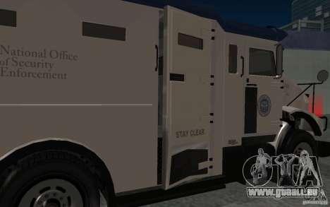 Securicar de GTA IV pour GTA San Andreas vue intérieure