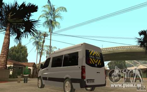 Volkswagen Crafter school bus pour GTA San Andreas sur la vue arrière gauche