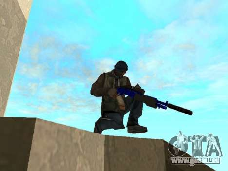 Blue and black gun pack für GTA San Andreas sechsten Screenshot
