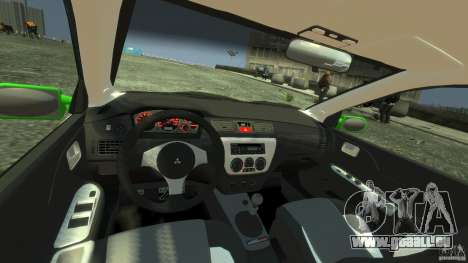 Mitsubishi Lancer Evo IX Tuning für GTA 4 rechte Ansicht
