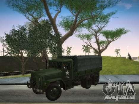 AM General M35A2 pour GTA San Andreas sur la vue arrière gauche
