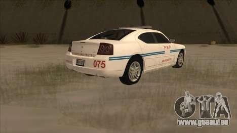 Dodge Charger PNP SAN FIERRO für GTA San Andreas zurück linke Ansicht