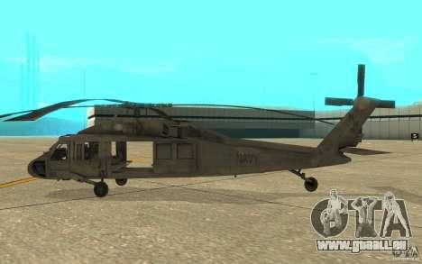 UH-80 pour GTA San Andreas sur la vue arrière gauche