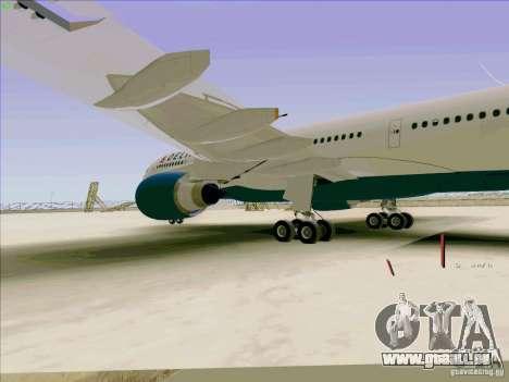 Airbus A330-200 für GTA San Andreas Innenansicht