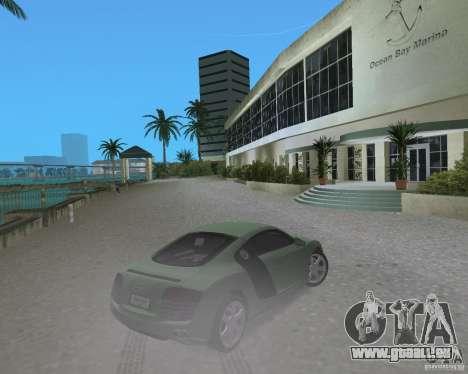 Audi R8 4.2 Fsi pour GTA Vice City sur la vue arrière gauche