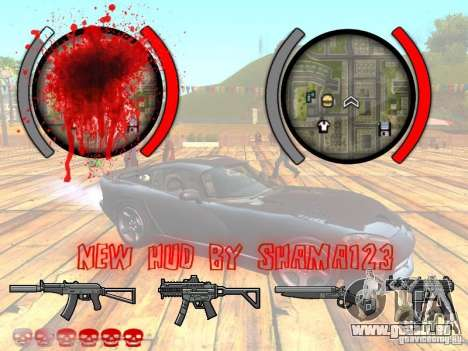 New HUD by shama123 pour GTA San Andreas