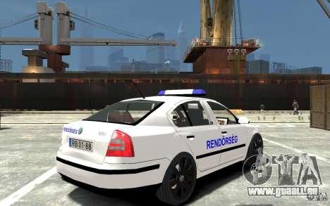 Skoda Octavia 2005 Hungarian Police für GTA 4 rechte Ansicht