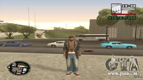 Sam B from Dead Island für GTA San Andreas zweiten Screenshot