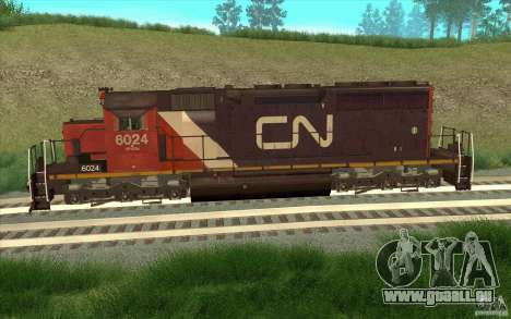 Canadian National SD40U für GTA San Andreas linke Ansicht