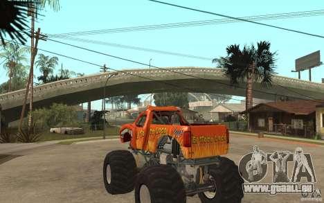 El Toro Loco pour GTA San Andreas sur la vue arrière gauche
