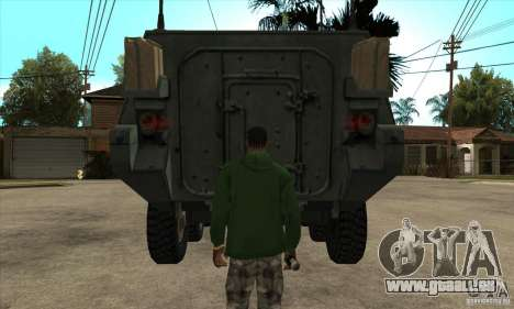 Stryker für GTA San Andreas Innenansicht