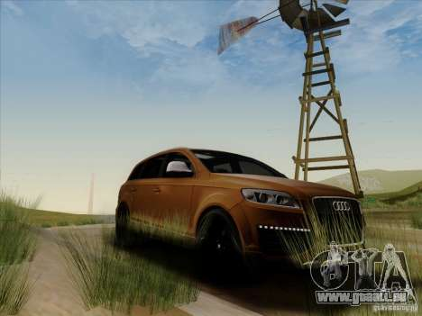 Audi Q7 2010 für GTA San Andreas Rückansicht