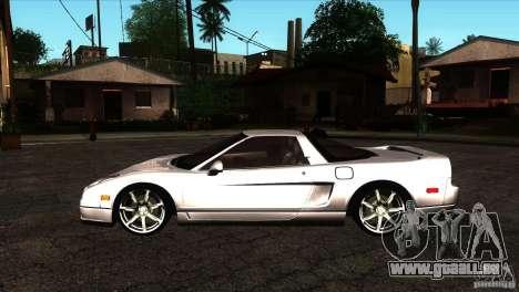 Acura NSX Stock pour GTA San Andreas laissé vue